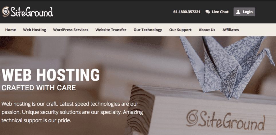 siteground 1 - Web hosting and maintenance packages