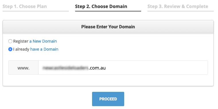 SiteGround Domain Settings