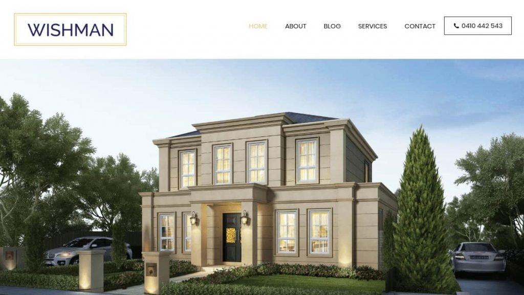Wishman Builders Website Screenshot