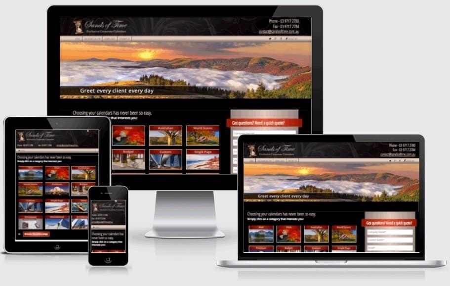Sand of Time Calendars Website Screenshot