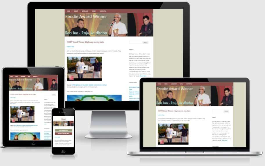 Sea Inn Restaurant Website Screenshot