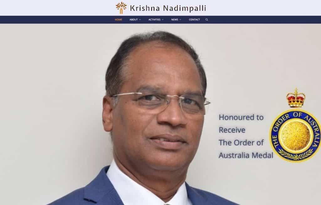 Dr Krishna Nadimpalli Website Screenshot