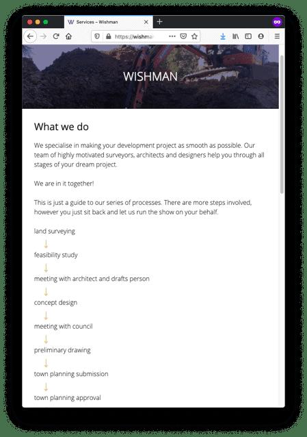 Landing Page Wishman - Landing Page Web Design