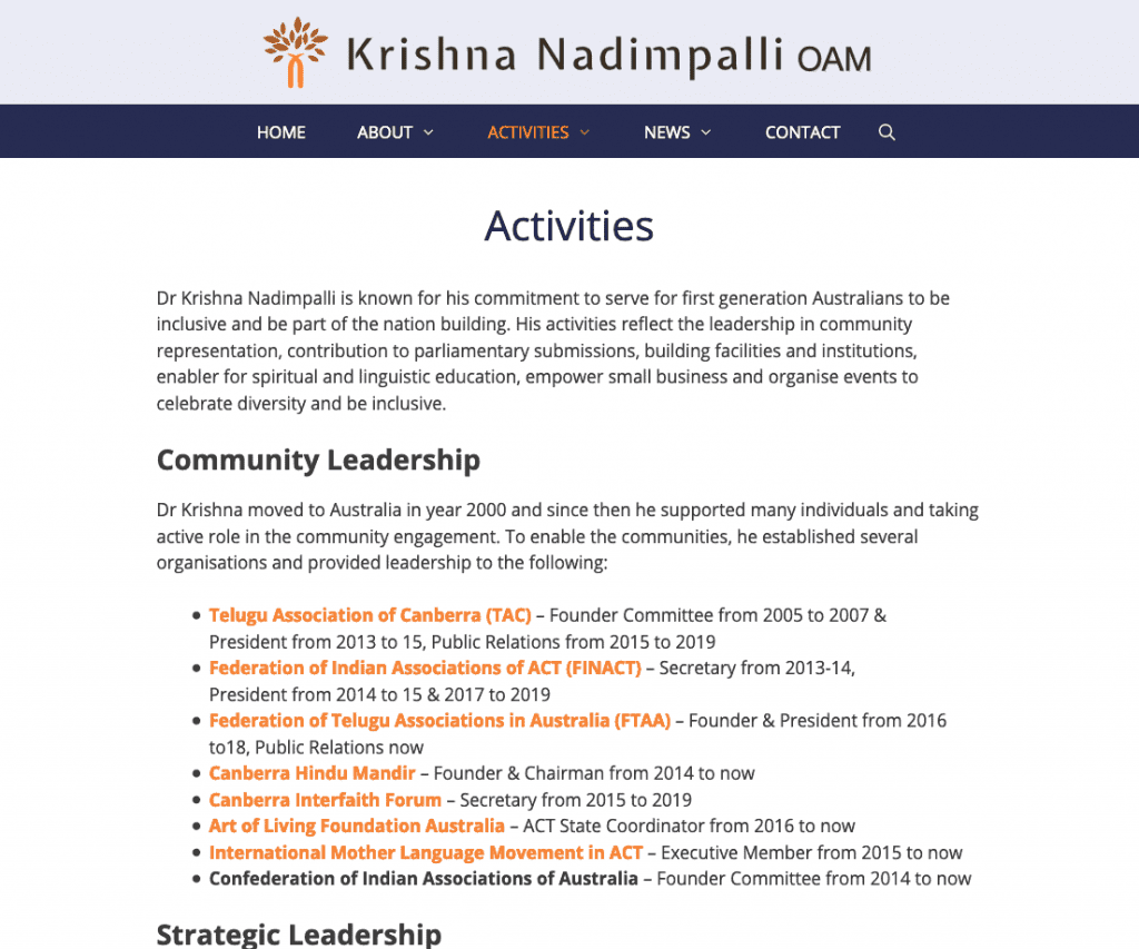 Screenshot 2020 03 14 Activities Krishna Nadimpalli - Krishna Nadimpalli