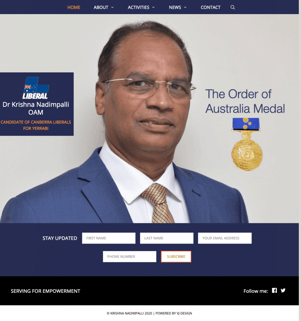 Screenshot 2020 03 14 Dr Krishna Nadimpalli Serving for empoverment is my philosophy - Krishna Nadimpalli