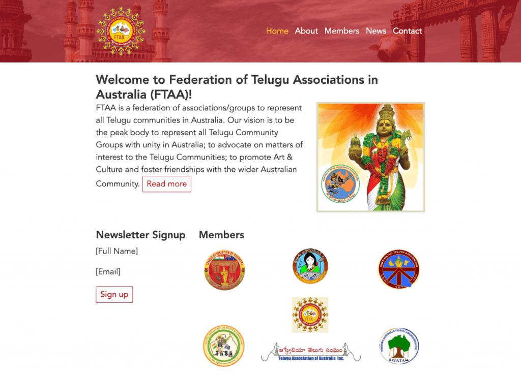 FTAA - Community Site - Powered by Static Site Generator Website Screenshot