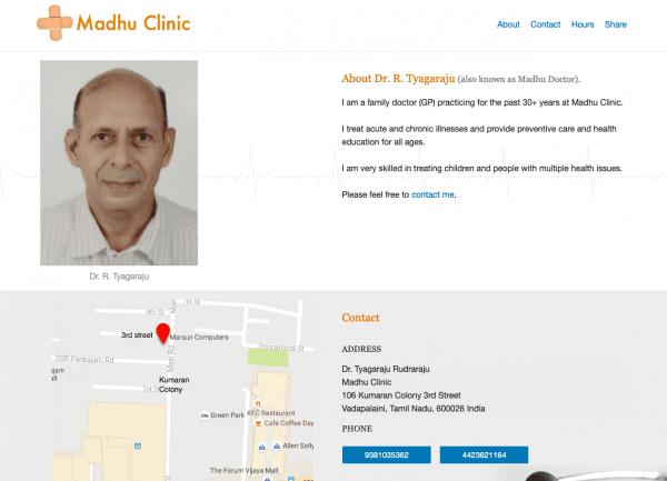 Madhu Clinic - Static Site