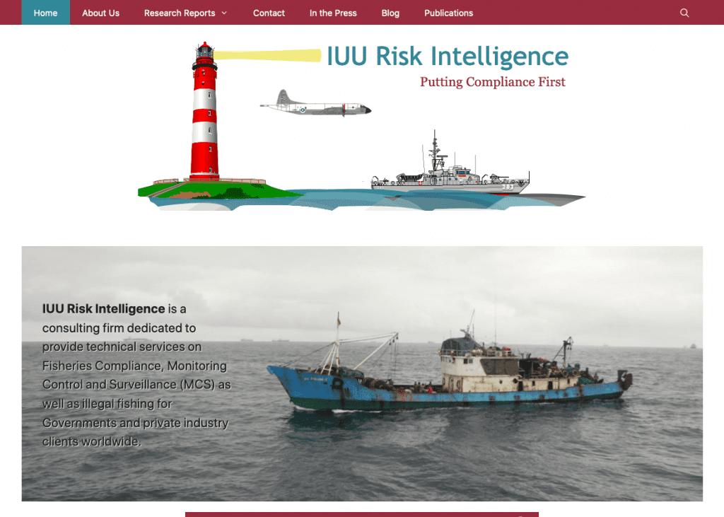 IUU Risk Intelligence Website Screenshot