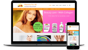Vitamin for all - Example of an online store built with WordPress and WooCommerce. Australian Family Supplements for Natural Health