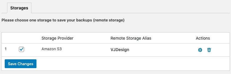 WPvivid - Remote Storage - Storages