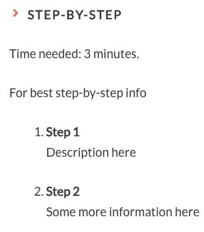An example step-by-step guide built using the Yoast how-to block