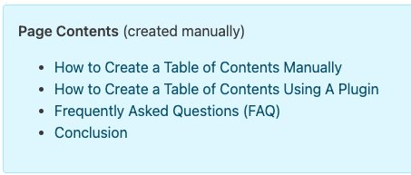 wordpress table of contents - How to create a Table Of Contents (TOC) in WordPress with/without plugin